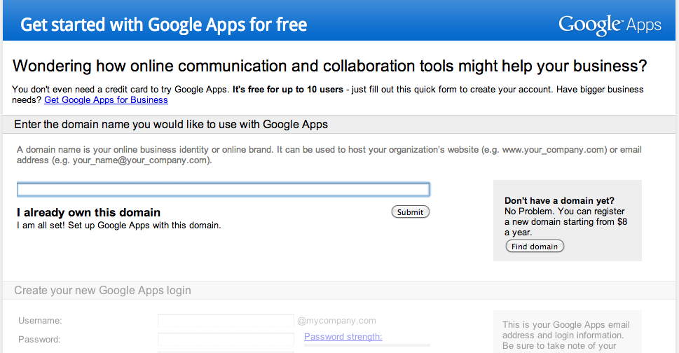 setup google-apps-step1